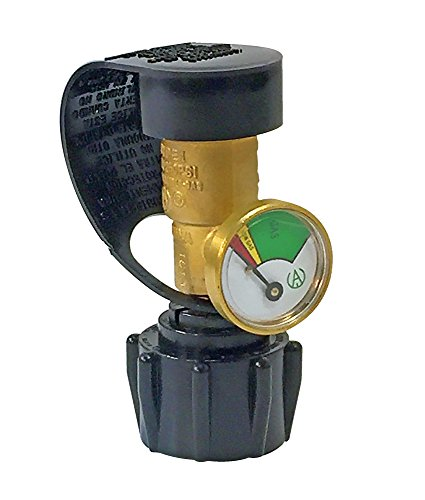Martin - Propane Tank Level Indicator Gauge BBQ Grill Portable Stove Type 1 Regulator - UL Certified