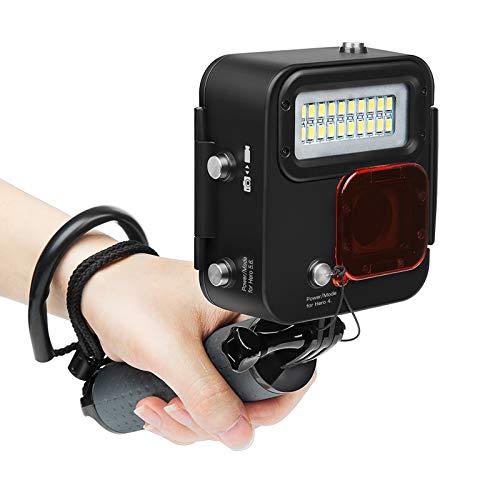 SHOOT 1000LM Kangaroo Diving Light for GoPro HERO7 Black/HERO6/HERO5/HERO4/HERO(2018),Waterproof Case 30m (98 feet), LED Underwater Scuba Fill Light,Removeble Red Filter
