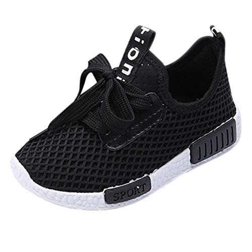 Price comparison product image RespctfulBoy's Girl's Lightweight Breathable Sneakers Casual Lace Up Athletic Running Shoes Autumn Crib Shoes First Walkers Black