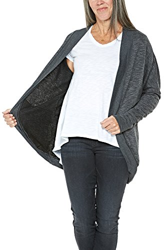Hard Tail Ribbed Cocoon Jacket in Black (Medium)
