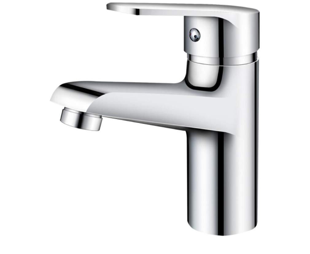 Edelstahl Einhand Wasserhähne Küche Kupfer Gesicht Becken Wasserhahn Bad Einzelbett Loch Waschbecken Kalt Und Heiß Wasserhahn