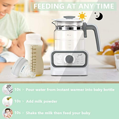 4105waOXF3L. AC - Baby Instant Warmer, Bottle Warmer With Accurate Temperature Control For Formula, Coffee And Tea, 1.3 Liter Formula Dispenser With LCD Display And Timer