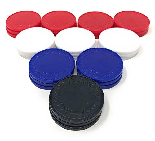 Sea View Treasures 100 Bulk Poker Chip Assortment (Blue, White, Red, Black) by Sea View Treasures