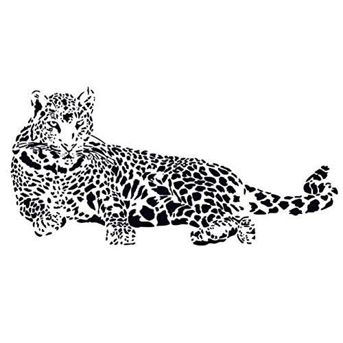 DierCosy Large Cheetah Wall Stickers self-Adhesive Leopard Jaguar Mural Stickers DIY Art Mural Applique Home Room DIY Tools