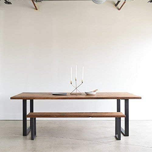 Industrial Modern Dining Room Table: Amazon.com: Industrial Modern Dining Table/U-Shaped Metal