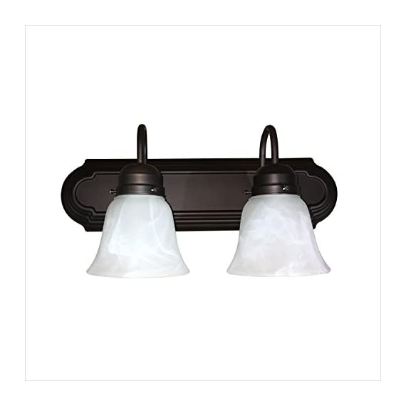 Y Decor L22-RB Monica 1-Light Bathroom Vanity Light In Oil Rubbed Bronze - 2 light vanity light Oil Rubbed Bronze Acid white glass - bathroom-lights, bathroom-fixtures-hardware, bathroom - 4105x35LhwL. SS570  -