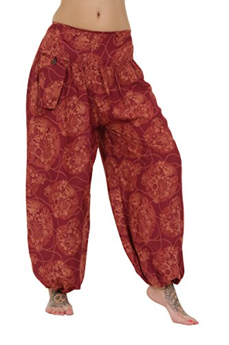 Pantalones holgados tipo hárem Flower Wine