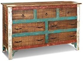 Crafters Weavers Distressed Solid Wood Painted Dresser - the best bedroom dresser for the money