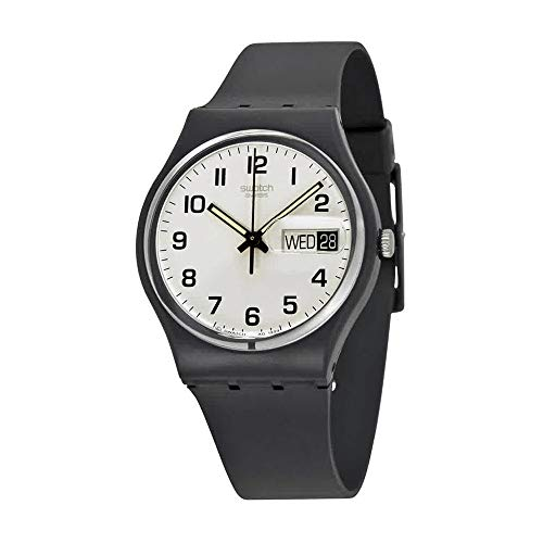 Swatch Women's GB743 Once Again Black Plastic Watch