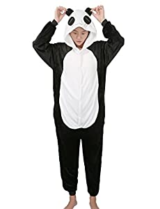 Panda Cosplay Pajamas Adult Unisex Onesies Animal Sleepwear Halloween Costume