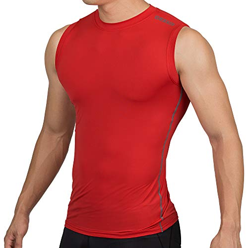 DRSKIN Undershirts Running Shirt Tank Tops Men's Cool Dry Compression Baselayer Sleeveless (STR07, ()