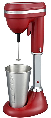 Ovente Milkshake Maker and Drink Mixer, Dishwasher Safe Stainless Steel Mixing Cup Included, 15 oz, 2-Speed, Red (MS2090R) by Ovente Kitchen