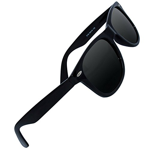 Eye Love Polarized Sunglasses for Men & Women | Glare-Free | 100% UV Blocking | 5+ COLORS (Glossy Black Frame | Grey High Definition Polarized - Wayfarer Women