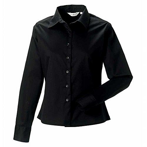 Russell Womens Long Sleeve Classic Twill Shirt Black