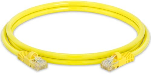 Yellow 5 Feet Cat5e Networking RJ45 Ethernet Patch Cable
