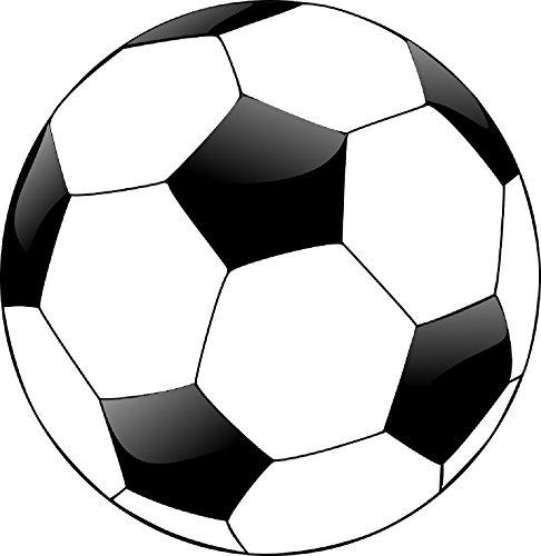 Best Round Soccer Ball Soccerball Football 5x5 Inch Auto Decal Bumper Sticker Vinyl Decal For Car Truck Van RV SUV Boat Window Locker
