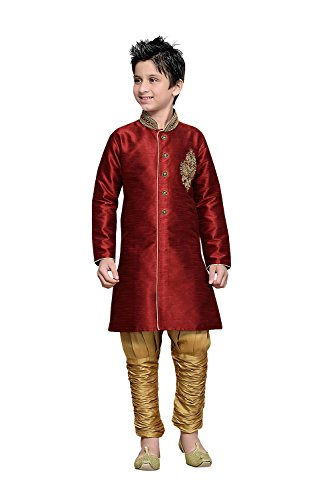 Indianfashion Store Indian Designer Partywear Ethnic Wedding Maroon Wedding Readymade Kid by Indianfashion Store