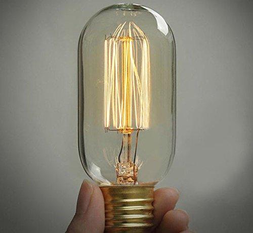 Mingruie 220v 40W Edison Light Bulbs T45 Filament Vintage Bulb E27 360 Degree Warm - Mall Stores Edison