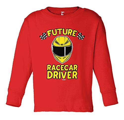 - Future Racecar Driver - Race Fast Long Sleeve Toddler Cotton Jersey Shirt (Red, 5T/6T)