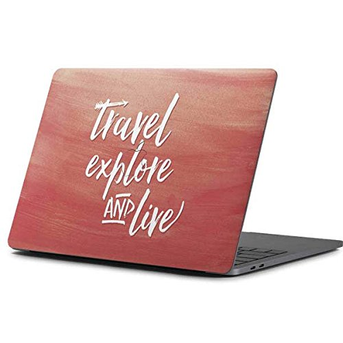 Skinit Illustration Art MacBook Pro 13-inch (2016-17) Skin - Travel Explore and Live Design - Ultra Thin, Lightweight Vinyl Decal Protection