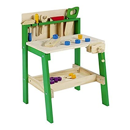 Amazon Com Urbn Toys Kids Tool Work Bench Wooden Diy Table