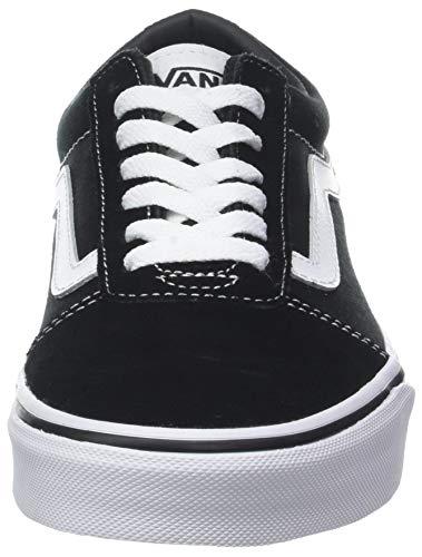 canvas suede Canvas Hombre C4r Zapatillas white Ward Vans Para Negro Black SwZxq0FnY
