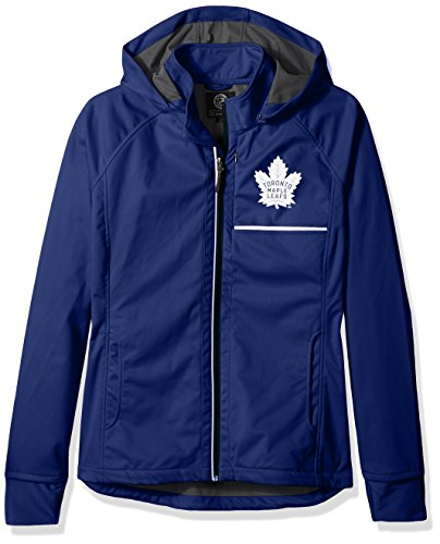 GIII For Her NHL Toronto Maple Leafs Adult Women Cut Back Soft Shell Jacket, Small, Royal