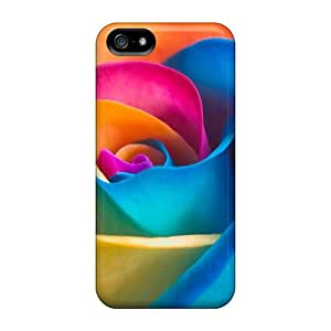 Brand New 5/5s Defender Case For Iphone (rainbow Rose)