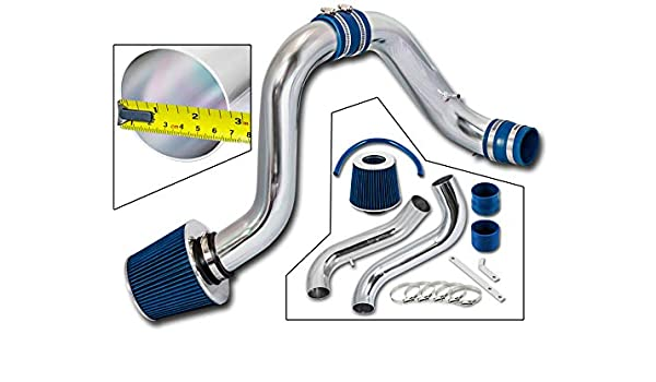 BLUE COLD AIR INTAKE Compatible For 16-19 HONDA CIVIC 1.5L TURBO RTUNES RACING