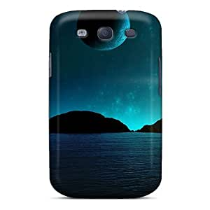 Xbb4585ZNJe Faddish Blue World Space Cases Covers For Galaxy S3