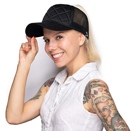 LoveLife Quilted Ponytail Baseball Hats (Black) by LoveLife (Image #1)