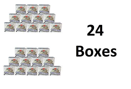 (White Sage - Case of 12 Boxes, 10 Cones Each - HEM Incense)