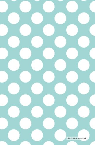 Classic Mole Notebook - Blue White Dots: 5.25