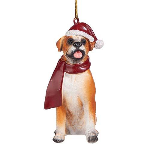 Design Toscano Christmas Ornaments - Xmas Boxer Holiday Dog Ornaments from Design Toscano