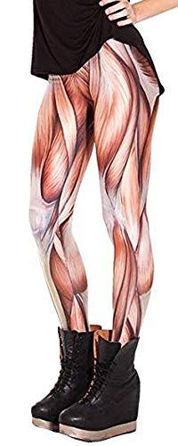 Jescakoo Muscle Print Women's Ankle Length Tight Skinny Leggings ()