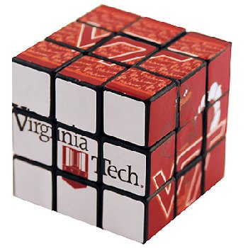 Game Day Outfitters NCAA Virginia Tech Hokies Toy Puzzle Cube Gameday Outfitters 22133