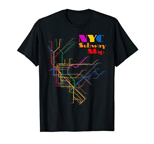 New York City Subway Map Shirt NYC Metro Map T-Shirt Gift (Best Nyc Metro App)