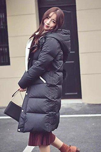 Generic 2018 new winter jacket Girls long paragraph Slim was thin big yards thick knee Korean fashion for women girl