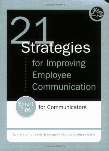 21 Strategies for Improving Employee Communication PDF ePub ebook