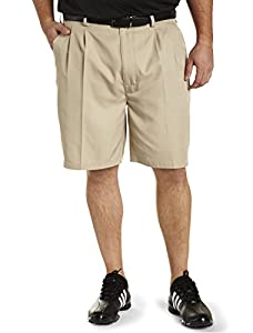 Reebok Big and Tall Golf Speedwick Continuous Comfort Pleated Shorts
