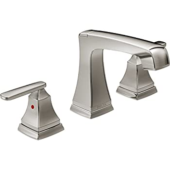 Delta Faucet 3564 SSMPU DST Ashlyn, Two Handle Widespread Bathroom Faucet,  Stainless