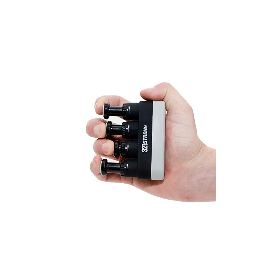 Adjustable Finger Strengthener and Hand Exerciser with BONUS 4K Ultra HD eBook