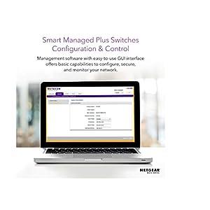 NETGEAR 24-Port Gigabit Ethernet Smart Managed Plus Switch (JGS524E) - Desktop/Rackmount, and ProSAFE Lifetime…