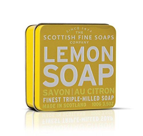 The Scottish Fine Soaps Company Soap Tin Collection   Lemon  100G