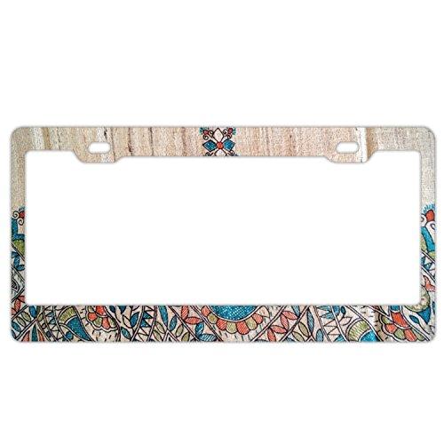 Jailjack License Plate Frames, Art Artistic Blue Aluminum alloy Car Licence Plate Covers
