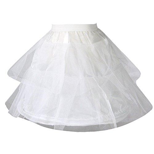 Dresstore girls 39 petticoat short flower girl crinoline for Underwear under wedding dress