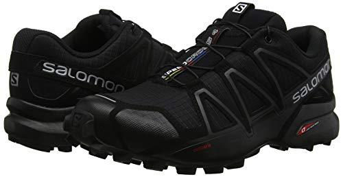 Pour Hommes Course Trail De Pied Mtallis Noir Wide Chaussures Speedcross noir 4 Salomon 1w0S8nwOx
