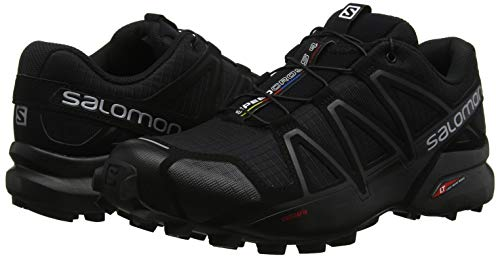Salomon Men's Speedcross 4 Trail Runner, Black A1U8, 7.5 M US by Salomon (Image #6)