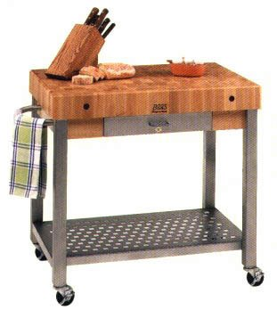 Amazon.com: Cucina Americana Technica Kitchen Cart with Butcher ...