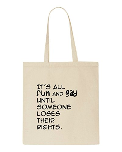 Fun Their Tote All It's Beige Gay Someone And Rights Loses Shopper Bag Until Sw10q50x6